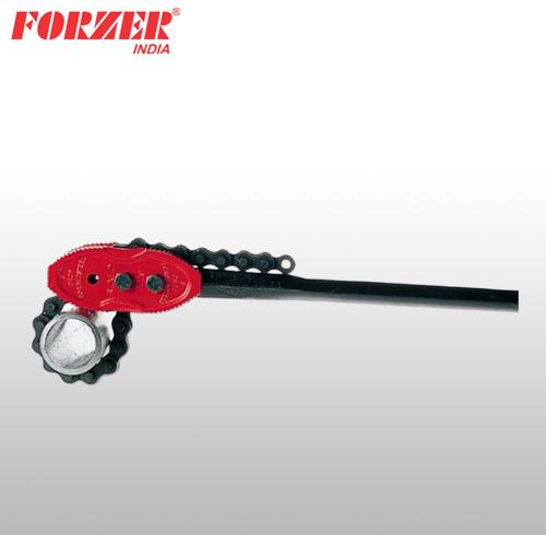 CHAIN PIPE WRENCH FOR LARGE DIAMETER PIPES (Forged Handle)